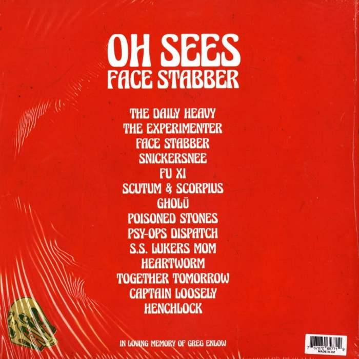 Oh Sees - Face Stabber - Ltd Ed, Red, Green, Vinyl, Double Vinyl, LP, Castleface, 2019