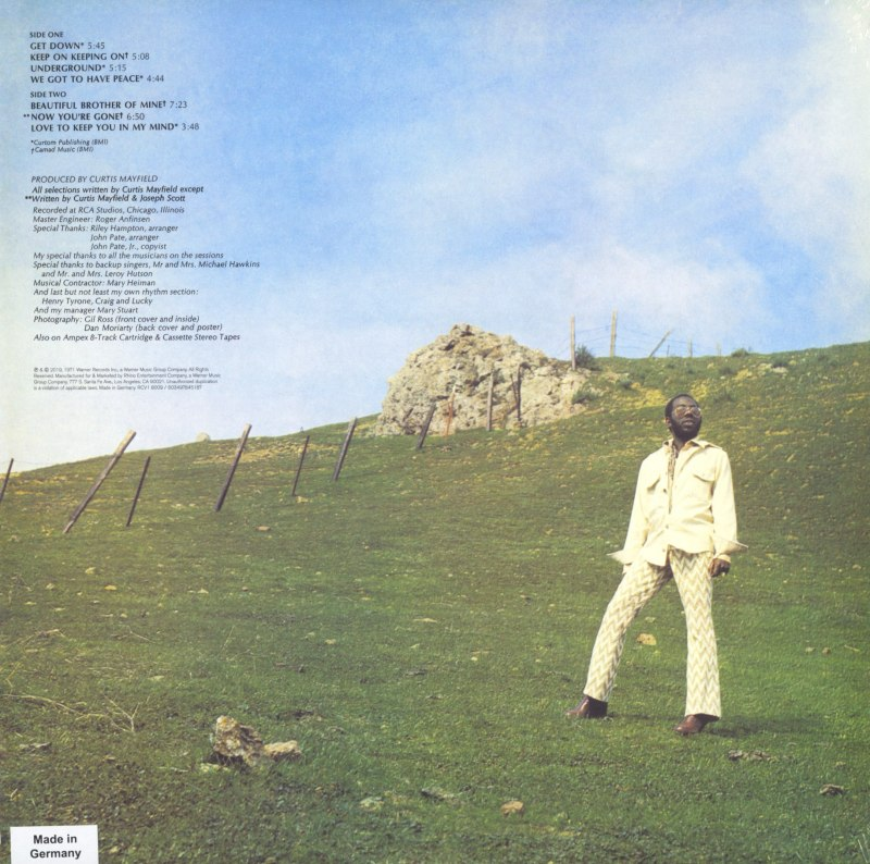 Curtis Mayfield - Roots - Limited Edition, Orange, Colored Vinyl, LP, Reissue, Rhino, 2021