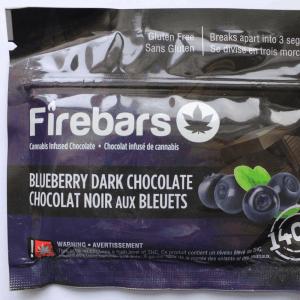 Fire Bars- Blueberry Dark Chocolate (140 MG THC)