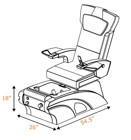 Yuna Pedicure Chair
