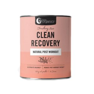 Nutra Organics Clean Recovery Strawberry Lime 250g