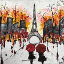 Eiffel Tower Love of Symbol Abstract