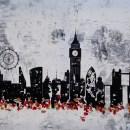 London night Skyline abstract painting 213