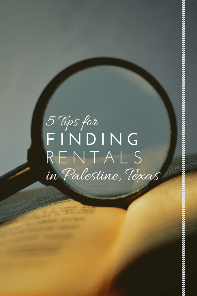 how to find rent house in palestine tx