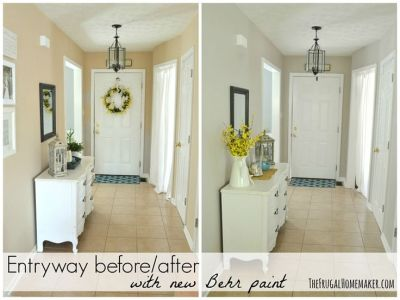It's AMAZING what a little paint transformation will do! Instant chic update! Image Credit: The Frugal House Wife