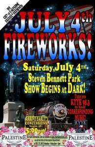 Palestine TX Fireworks July 4, 2015