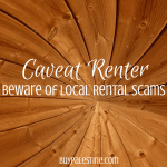 caveat renter- beware of local rental scams