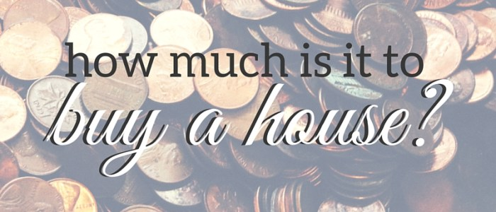 how much is it to buy a house