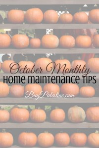october monthly home maintenance tips