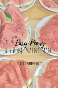 Easy Peasy July Home Maintenance Tips for your East Texas Home