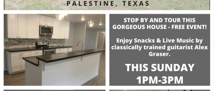 Open House - This Sunday in Palestine TX