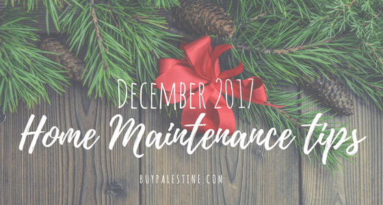 December Seasonal Home Maintenance Tips