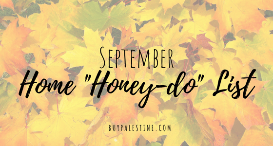 September Home Honey-Do List