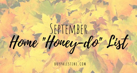 September Home Honey-Do List