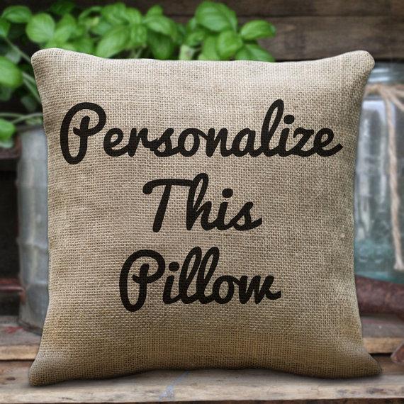 Custom Pillow Personalised Cushions Custom Quote Print on Cotton  BuyPersonalizedPillowscom
