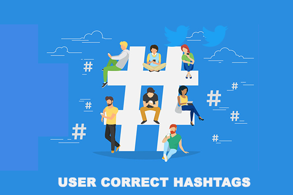 User Correct Hashtags
