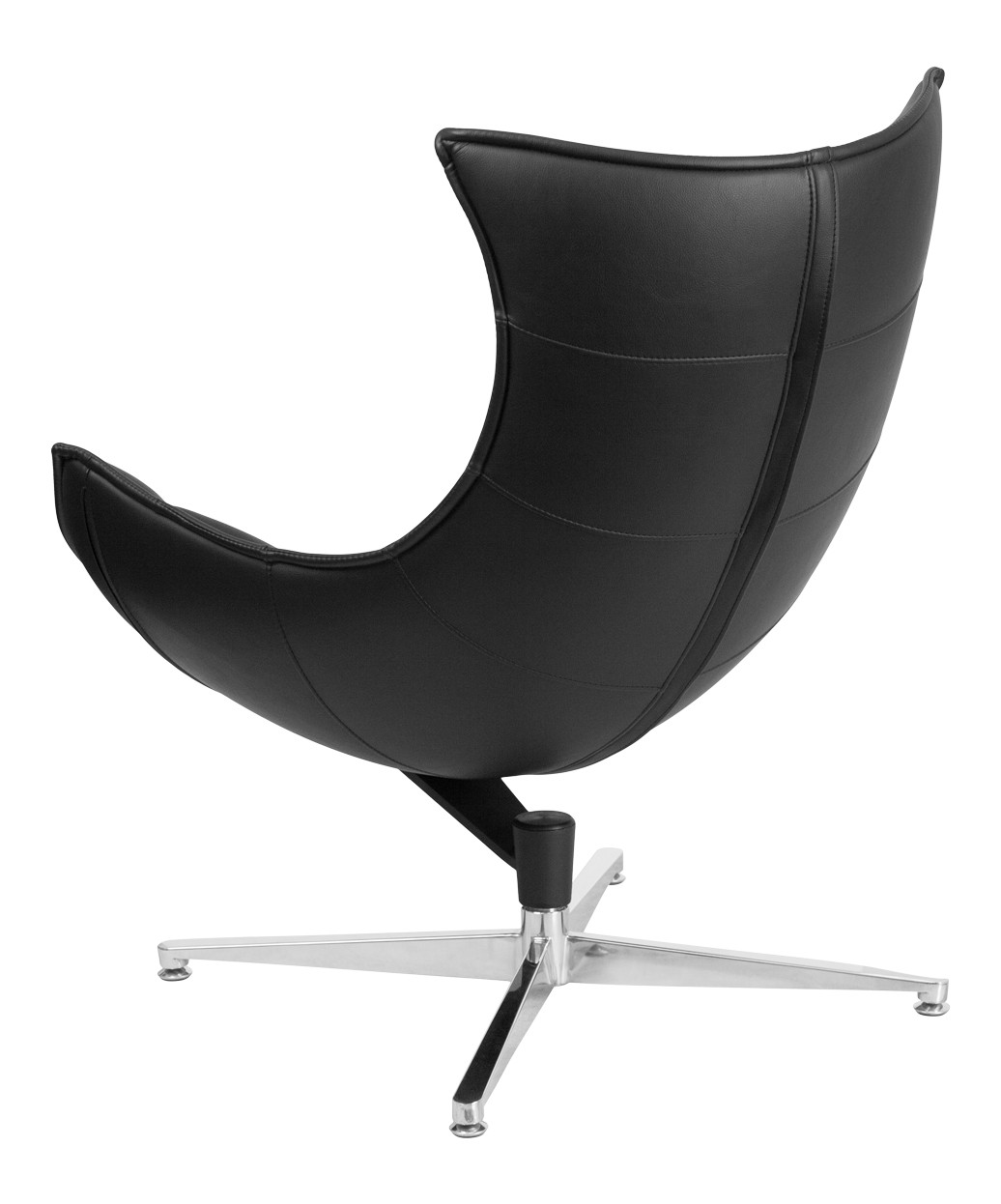 Cocoon Chair Black Leather Swivel Cocoon Chair