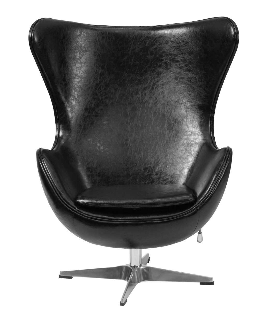 Egg Chair Prices Black Leather Egg Chair With Tilt Lock Mechanism