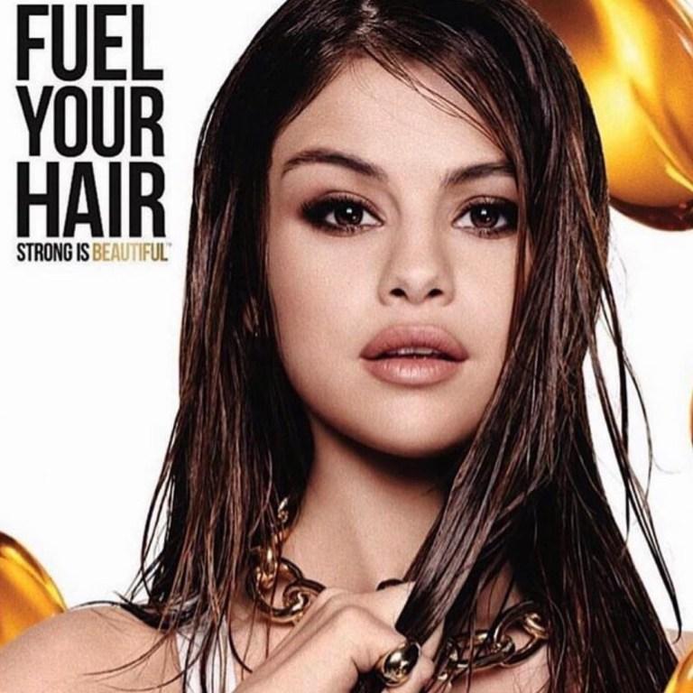 selena gomez -fuel hair