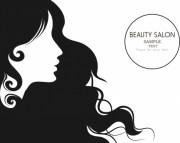 beauty salon advertisment black
