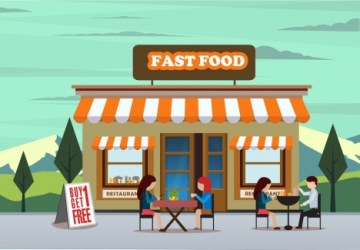 fast food drawing outdoor diners advertising restaurant vector icons cartoon outside exterior graphic diner vectors 64mb illustration earn millions industries