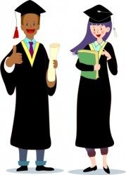 student cartoon graduated characters colored icons graduation vector vectors colorful graphic
