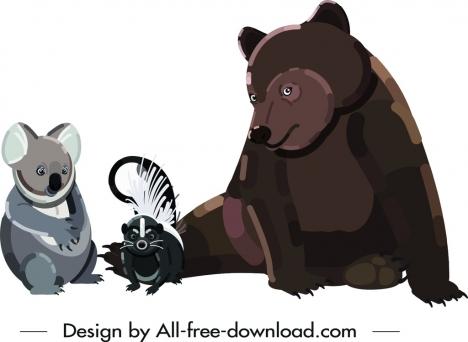 wild animal icons koala