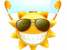 Happy summer sun vector graphic royalty free download ...