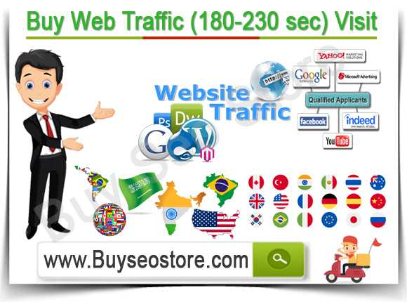 Buy Web Traffic (180-230 sec) Visit