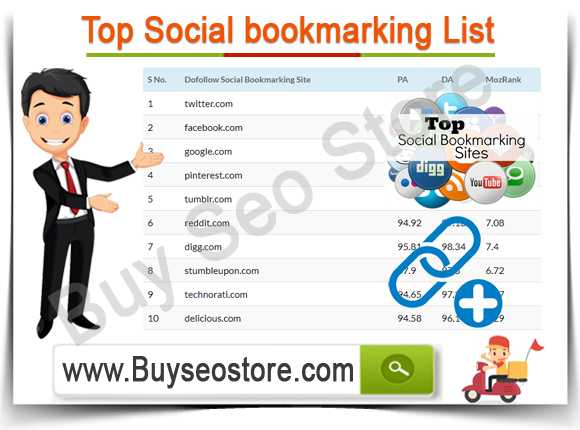 Buy Top Social bookmarking List