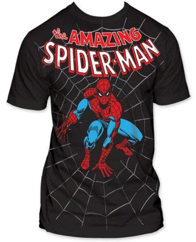 Men's Marvel Comics Spider-man Amazing Spiderman Big Print Subway T-shirt M