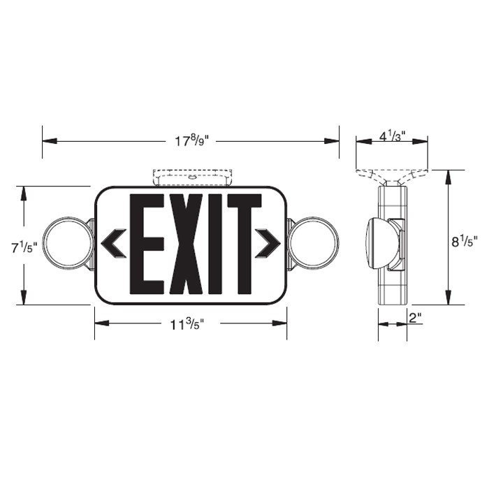 Siltron™ MPXL-2H Mini Series Plastic LED Exit/Emergency