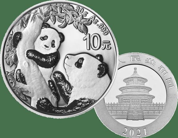 Buy 2021 30g silver panda coin