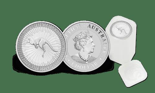 Buy tube of 25 Australian Kangaroo 1 oz Silver Coins