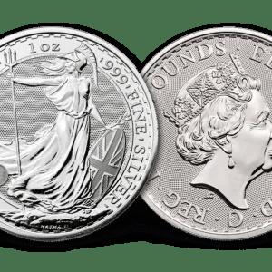 buy great britain britannia 1 oz silver coin bu condition