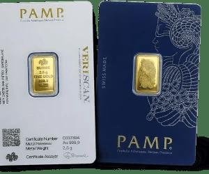 Buy PAMP 2.5 gold bar