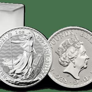 Buy tube of 25 great britain britannia 1 oz silver coins