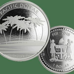 buy 2018 FIJI 1 OZ SILVER PACIFIC DOLLAR COIN