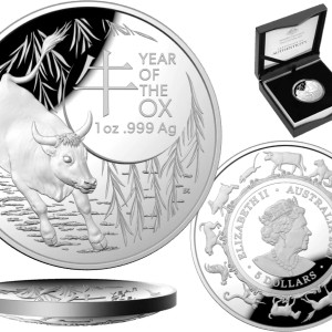 buy 2021 australia lunar year of the ox proof 1oz silver coin