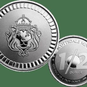 Buy Scottsdale lion 1/2 oz silver round