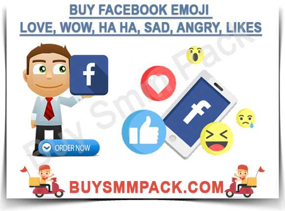 Buy Facebook Emoji Love, Wow, Ha Ha, Sad, Angry, Likes