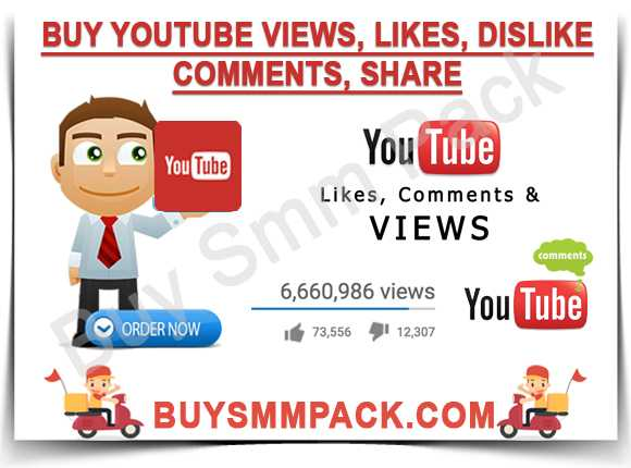 Buy Youtube Views, Likes, Dislike, Comments, Share