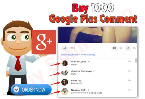 Buy Google plus Post Comment