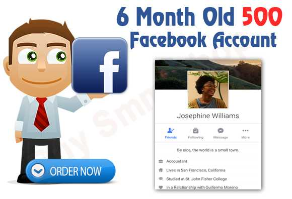 Buy 6 Month Old Facebook Account