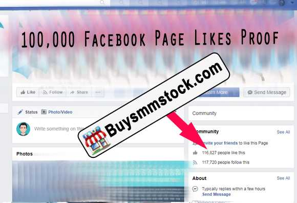 100000 Facebook Page likes proof