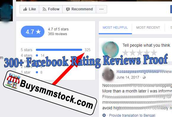 300+ Facebook Rating Reviews Proof