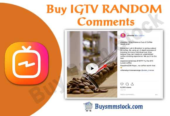 Buy IGTV RANDOM Comments