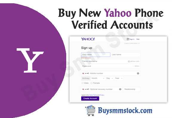 New Yahoo Phone Verified Accounts