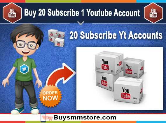 Buy 20 Subscribe 1 Youtube Account