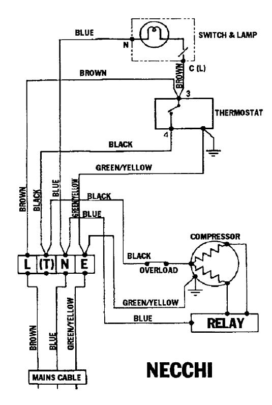 Refrigeration: Refrigeration Wiring Schematic
